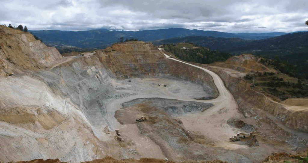 a picture of an open pit mine