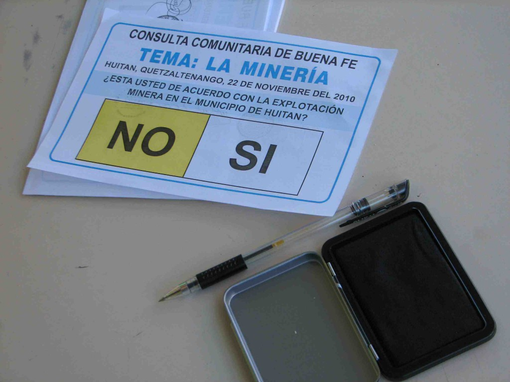 Since Goldcorp's Marlin mine went into operation in northwestern Guatemala, some 80 community convened votes have taken place over mining in different parts of the country. An estimated million people have voted against mining on their territories in the Guatemalan countryside. Photo: MiningWatch