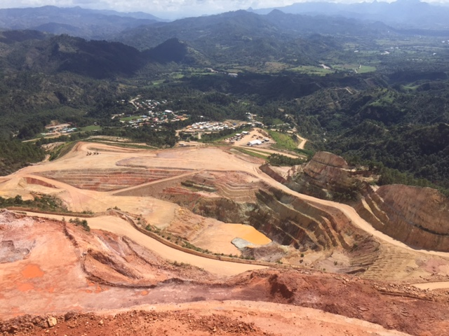 photo of the San Andrés open-pit mine in Copán, Honduras