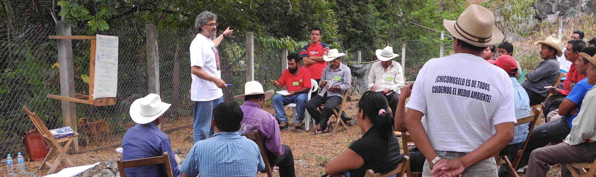 Community meeting in Chiapas, Mexico with Gustavo Castro; Photo: MiningWatch